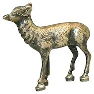 Continental Silver Miniature Model Figure Of A Fawn Germany Ca 1900.