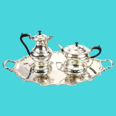Elkington & Co Silver Plated 5pcs Tea / Coffee Set, Birmingham, England, 1937.