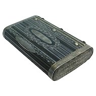 Continental Silver Mounted Wood Table Snuff Box 1832.
