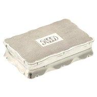 Sterling Silver Tobacco Snuff Box, Joseph Gloster, England, 1964.