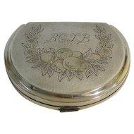Silver Compact Powder Case Box Russia Circa 1920