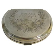 Silver Compact Powder Case Box Russia Circa 1920