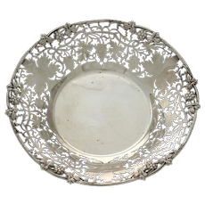 Sterling Silver Pierced Fruit Bowl, Cooper Bros, Sheffield, England, 1964.