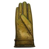 Novelty Brass Glove Vesta Case Ca 1900.