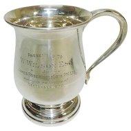 Sterling Silver Baluster Mug, Joseph Gloster, Birmingham, 1933.