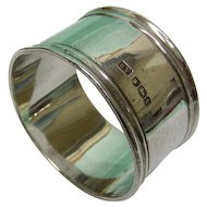 Sterling Silver Napkin Ring by Emile Viner Sheffield England 1936