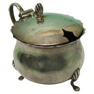 George V Sterling Silver Mustard Pot By Matthew John Jessop, England, 1910.