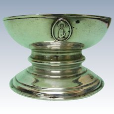 18th Century Style Sterling Silver Salt Cellar Theodore Rossi London 1904.