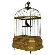 Rare Singing Bird Cage Automaton Music Box, Karl Griesbaum, Germany, Ca 1880.