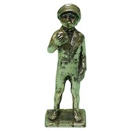 Vintage Silver Plated Boy Miniature Figurine.