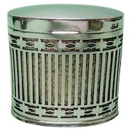 Sterling Silver & Copper Cigarette Box Levi & Salaman Birmingham 1935.