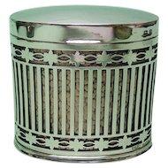 Sterling Silver & Copper Cigarette Box Levi & Salaman Birmingham 1935.