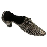 Sterling Silver High Heel Shoe Pin Cushion Adie & Lovekin Birmingham, 1903.
