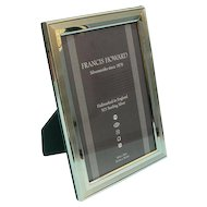 English Sterling Silver Mounted Wood Photo Picture Frame.