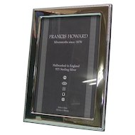 High Quality English Sterling Silver Mounted Wood Photo Picture Frame.