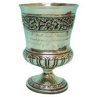 George III Sterling Silver Cup Goblet, London, England, 1815.