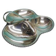 Vintage English Silver Plated Nut Dish By William Suckling & Sons, Birmingham, 1950