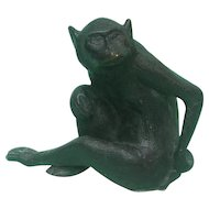 Novelty Bronze Monkey Sculpture