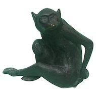 Novelty Bronze Monkey Sculpture