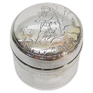 German Silver Pot & Cover By Ludwig Neresheimer & Sohne Hanau Ca 1900