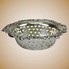 Edwardian Sterling Silver Pin Dish By William Aitken, Birmingham, England, 1902
