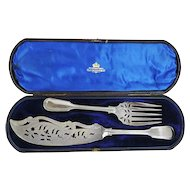Elkington & Co Silver Plated Cased Fish Servers, Birmingham, England, 1854