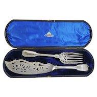 Elkington & Co Silver Plated Cased Fish Servers, Birmingham, England, 1854