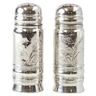 Pair Of Gorham Sterling Silver Salt & Pepper Shakers, Rhode Island, 1881