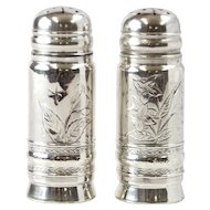 Pair Of Gorham Sterling Silver Salt & Pepper Shakers, Rhode Island, 1881
