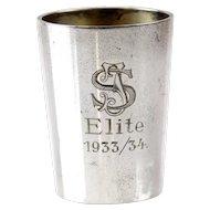 Silver Liqueur Tot Cup Emil Hermann Waldstetten Germany 1930s.