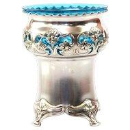 Art Nouveau WMF Silver Plated Sugar Basket, Geislingen, Germany, Ca 1900.