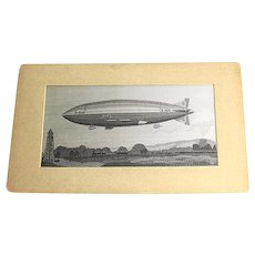Zeppelin Airship Embroidery The Palestine Industrial Cooperation Circa 1940.