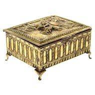 Neoclassic Style Brass Jewelry Box.