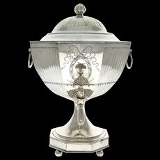 George III Old Sheffield Plate Tea Urn, England, Circa 1795.