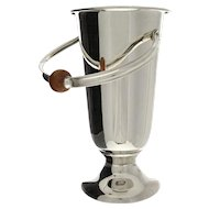 WMF Art Deco Large Silver Plated Champagne Wine Bottle Cooler, Germany, Circa 1940.