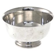 American Sterling Silver Bowl After Paul Revere By Fina.