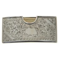 Sterling Silver Card Case, Jones & Crompton, Birmingham, England, 1913.