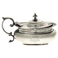 Sterling Silver Mustard Pot, Henry Matthews, Birmingham, England, 1891.