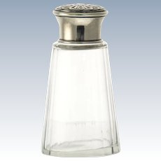 Sterling Silver Mounted Crystal Sugar Caster, France, Circa 1900.