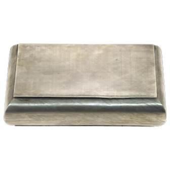 Italian Silver Cigar Cigarette Lidded Box Florence 1944-1968