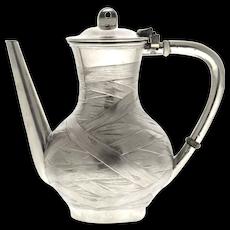 Russian Trompe L'oeil Silver Teapot, Stephan Wakeva, St. Petersburg, 1887.