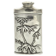 Chinese Export Silver Talcum Powder Box Dispenser, Wang Hing, Circa 1900.