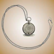 Sterling Silver Sovereign Case, Aaron Lufkin Dennison, Birmingham, England, 1913.
