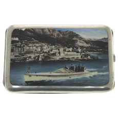 Silver and Enamel Cigarette Case, Germany, Early 20th Century.