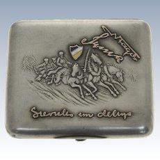 Russian Silver Cigarette Case, Circa 1900.