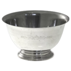 Tiffany & Co Forbes 70th Anniversary Sterling Silver Presentation Bowl