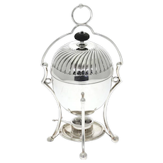 Silver Plated Egg Warmer Coddler Server, The Goldsmiths and Silversmiths Co, London, Early 20th Century.