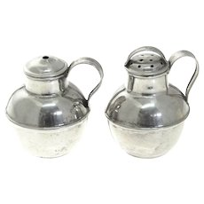 Novelty Sterling Silver Milk Churn Salt & Pepper Shakers