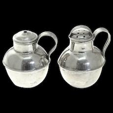 Novelty Sterling Silver Milk Churn Salt & Pepper Shakers