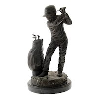C. Keliem - The Golfer - Bronze Sculpture.